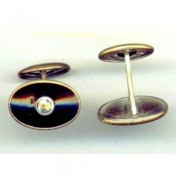 Art Deco Cuff links front view