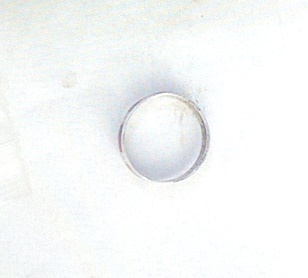Signed Mexican 925 Silver Enamel Ring view 2
