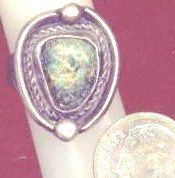 Native American Turquoise Silver Ring view 3