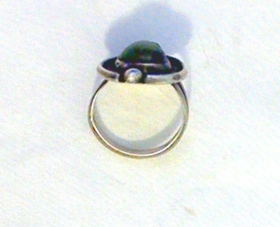 Native American Turquoise Silver Ring view 4