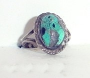 Native American Indian Turquoise Ring Vintage Old Pawn view 5