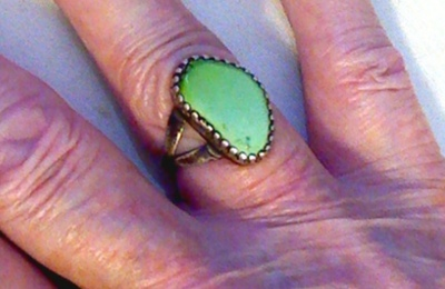Silver Turquoise Native American Ring view 1